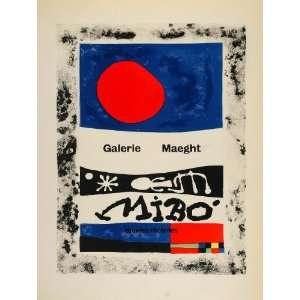 1959 Lithograph Joan Miro Modern Art Maeght Mourlot