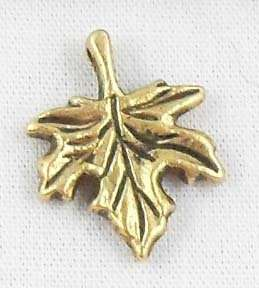 Free Ship 40pcs Gold tibetan silver Leaf Charms 17x2mm
