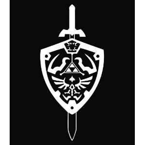 The Legend of Zelda Hyrule Shield Vinyl Die Cut Decal Sticker 8 White