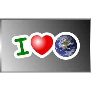 I Love Earth I Heart Earth Vinyl Decal Bumper Sticker 3 X