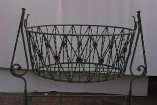 French Wrought Iron Basket / Planter   Large   Garden