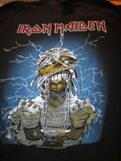 Vintage IRON MAIDEN Concert T Shirt Tour Shirt 1982 Md Rare Metal Rock