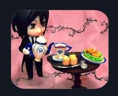 Kuroshitsuji Black Butler Miniature Silver Tea Service