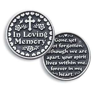 In Loving Memory Pewter Pocket Good luck Love Token Coin