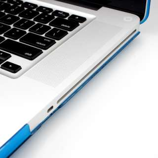 15 Aqua Blue Rubberized see through Macbook Pro Case with TPU