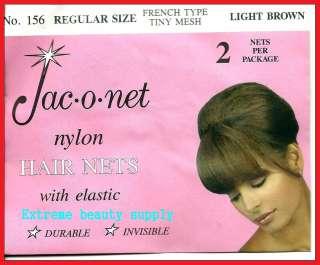 Jac O Net light brown franch tiny mesh elastic hair net