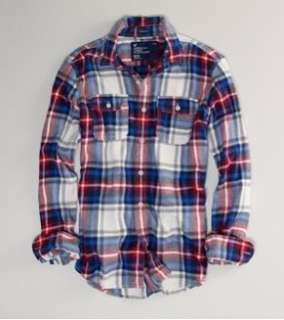 NWT AMERICAN EAGLE OUTFITTERS Men Plaid Flannel Shirt Size XS S M L