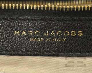 Marc Jacobs Black Leather Zipper Trim Expandable Hobo Bag