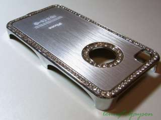 Luxury Elegant Diamond Bling Crystal Case Cover iPhone 4 Silver