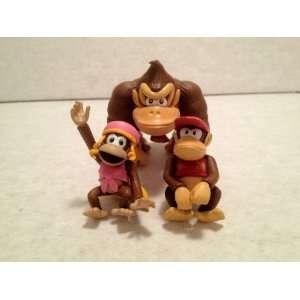 Super Mario Mini Figure Collection Dixie Kong 3pcs Set Toys & Games