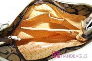 NEW Signature G Patchwork Plaid Handbag Purse Large Tote Hobo Bag
