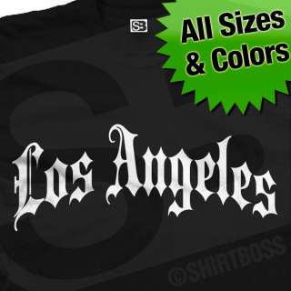Los Angeles Gothic T Shirt   All Sizes and Colors Avail
