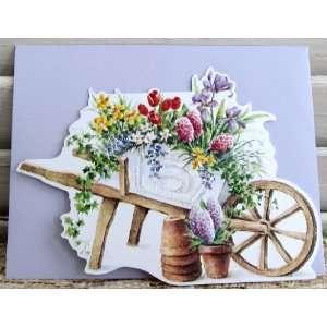6 Carol Wilson Mailable Enclosure Cards Flower Cart