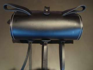 Indian Motorcycle / Black Leather studded Universal Tool Bag