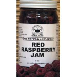 Red Raspberry Jam, All Natural/Low Sugar, 9 oz
