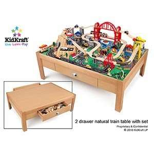 KidKraft Waterfall Mountain Train Table and Train Set Activity Tables