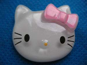 Sale* 10 Large Resin Hello Kitty Buttons Flatback Pink Bow K018