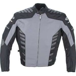 Mens Advanced Gun Metal Black Airborne Textile Jacket   Size  Small
