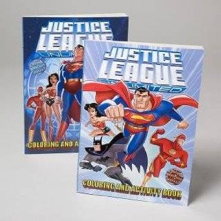Justice League coloring books with easy tear out pages (2 book) Toys