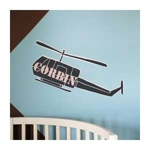 Army Helicopter Personalized Wall Decal