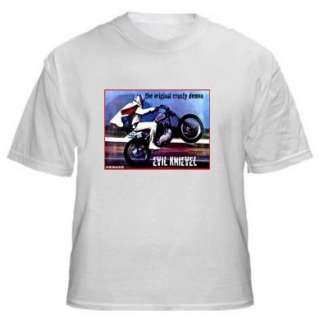 VINTAGE MOTOR CYCLE BIKE EVEL KNIEVEL COOL T SHIRT SHIRT MENS WOMENS