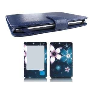 Borders Kobo (1st Generation) Genuine Leather Case Cover Jacket + Skin