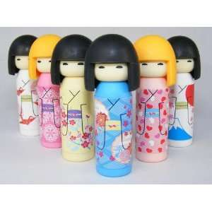 Iwako Japanese Erasers Kokeshi Dolls Set of 6: Toys & Games