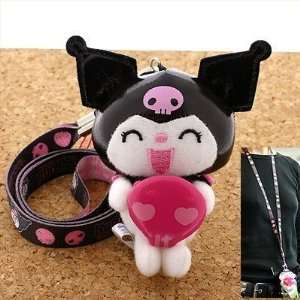 Kuromi Sanrio Hello Kitty and My Melody Neck Phone Strap with Stuffed