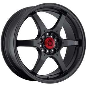 Konig Backbone 17x7.5 Black Wheel / Rim 5x100 with a 45mm Offset and a