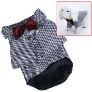 Pet Dog Black and White Check Clothes Apparel Business