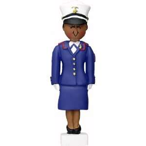 Armed Forces Marine, Female African American Personalized