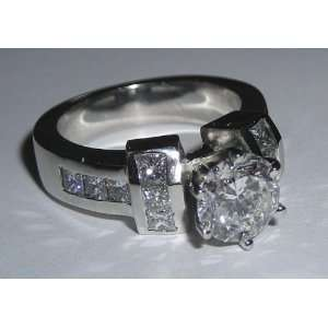 carats white gold diamond ring real genuine diamonds
