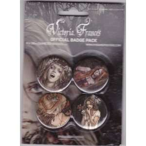 Victoria Frances Vampires Official 4 Piece Button / Badge