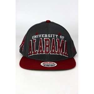 Zephyr Superstar University Of Alabama Crimson Tide Snapback Hat Grey