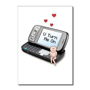U Turn Me On Funny Valentines Day Greeting Card Office