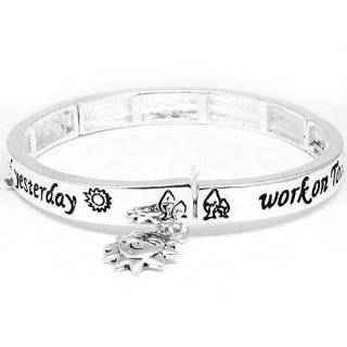 Live Well, Love Much, Laugh Often Inspirational Message Silver Tone