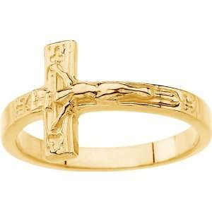 Yellow Gold Crucifix Chastity Gents Ring Diamond Designs Jewelry