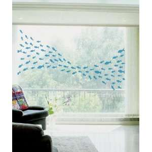 BLUE FISH WALL ART DECOR ART MURAL STICKER PS 58078