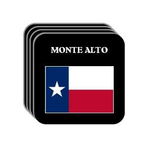 US State Flag   MONTE ALTO, Texas (TX) Set of 4 Mini Mousepad Coasters