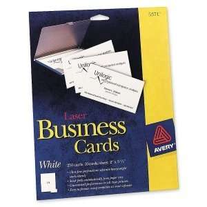 Avery Business Card. 250 CARDS LASER WHITE BUSINESS CARDS