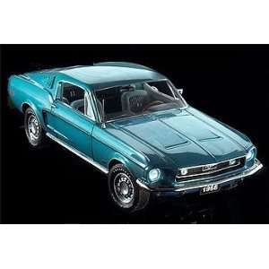 Replicarz FMG398 1968 Ford Mustang Fastback GT   Aqua with