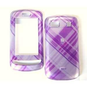 New Orchid Light Purple Cross Checker Plaid Color Design