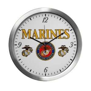 Wall Clock Marines United States Marine Corps Seal