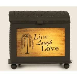 Rustic Brown Live Laugh Love Inspirational Electric Wax