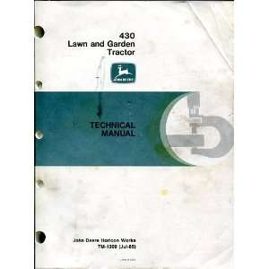 Lawn and Garden Tractor   Technical Manual (TM 1309 (Jul85)) John