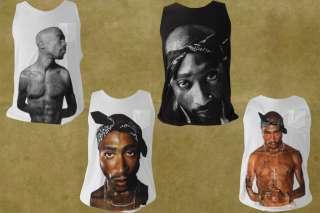 TUPAC Shakur Makaveli 2pac Hip Hop Rap T Shirt Jay Z Wu Tang Tank Top