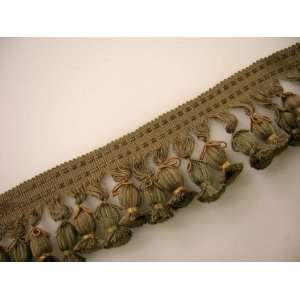 , Eucalyptus, Brass, Tan Tassel Fringe Trim Arts, Crafts & Sewing