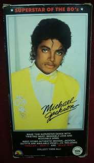 Michael Jackson Superstar of The 80 s Doll Figure RARE