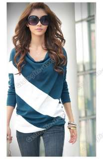 Dolman Long Sleeve Cotton Casual Tops T Shirt Blouses #143