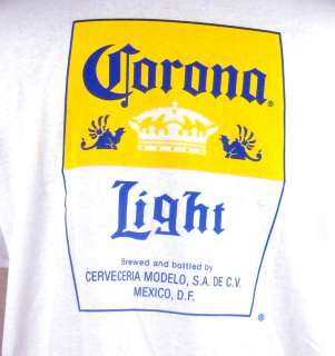 Corona Light Beer Label Crown Mexico Cerveza Griffin Mens T shirt XL